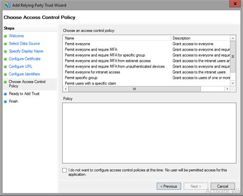 Access Control Policies In Ad Fs Microsoft Docs It Access Policy Template