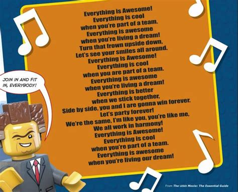 printable lyrics to everything is awesome lego movie dk books us on twitter quot can t get quot everything is awesome