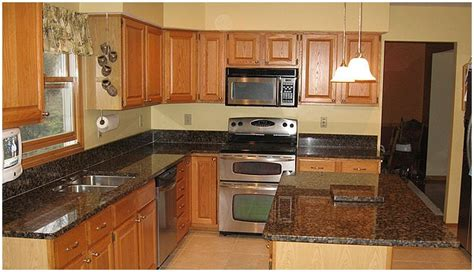 medium brown cabinets with granite countertops plan to happy white cabinets or stained cabinets kitchen
