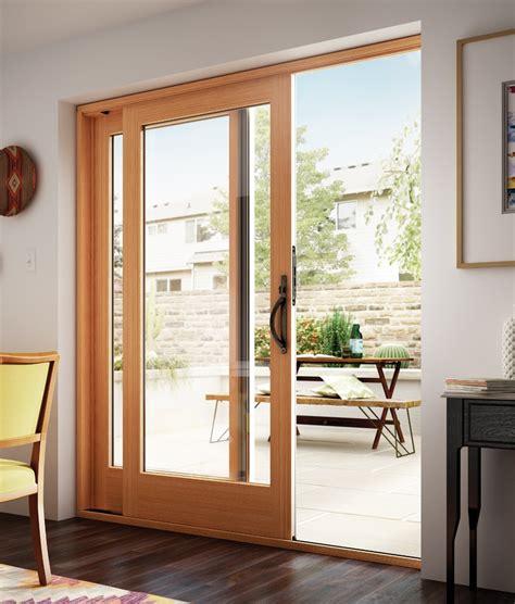 wood sliding patio doors vinyl sliding patio door montecito 174 series milgard