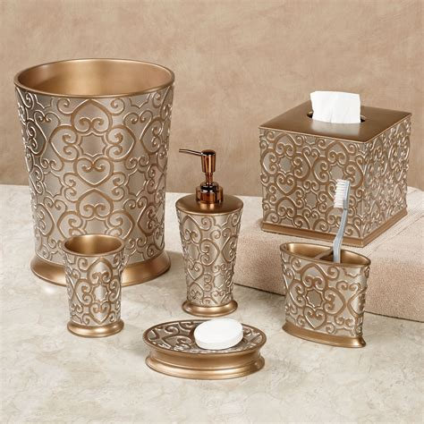 bathroom decor accessories allure silver and gold bath accessories