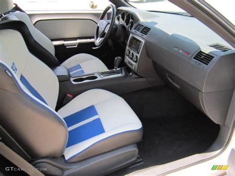 White Challenger Interior by Pearl White Blue Interior 2011 Dodge Challenger Srt8 392
