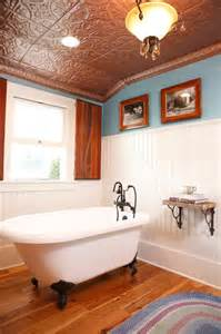 traditional copper ceiling farmhouse bathroom other