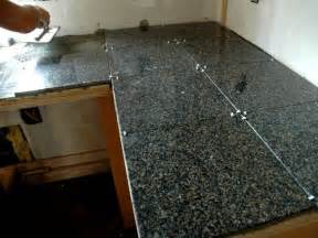 How To Install Kitchen Countertop How To Install A Granite Tile Kitchen Countertop How Tos Diy