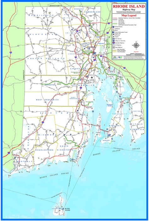 rhode island on map rhode island map roundtripticket me