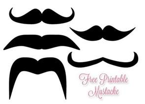 Mustache Print Out Template by Free Printable Mustache How To Make Mustache Sticks
