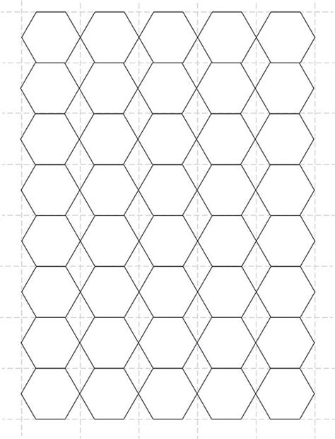 1 5 inch hexagon template best photos of 1 2 inch hexagon templates hexagon shape