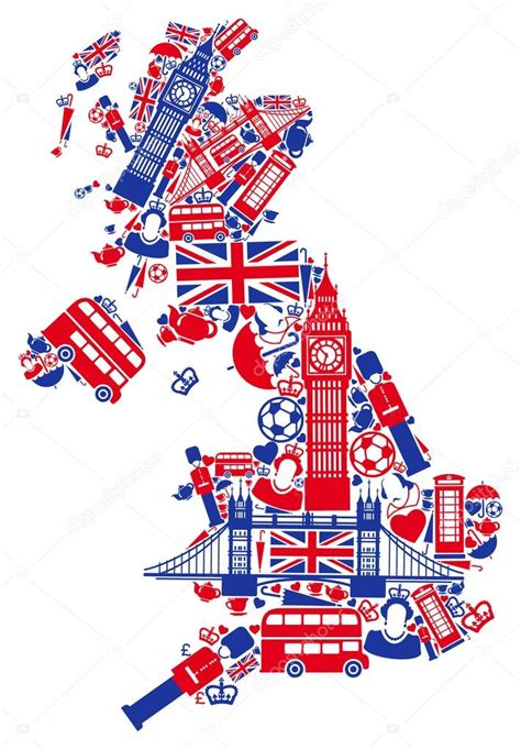 Great Britain Map Stock Vector 169 Klava 18127743