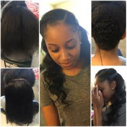 partial sew in weave hairstyles partial sew in homecoming hairstyles pinterest