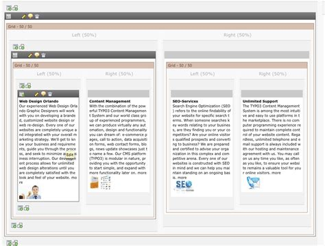 typo3 backend layout grid elements content elements