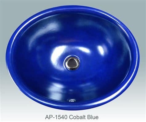 Cobalt Blue Kitchen Sink Atlantis Porcelain Corp Painted Gallery I