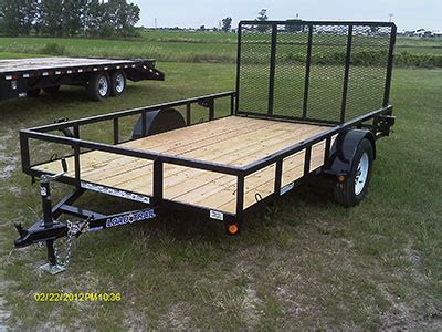 badger trailer and power: single axle utility trailers
