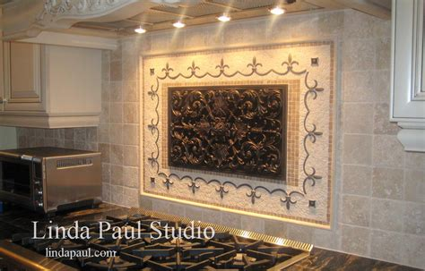 backsplash medallions kitchen kitchen backsplash tile murals by linda paul studio by