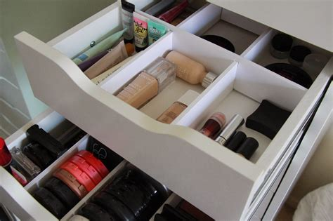 Makeup Storage With Drawers by Sparkle Diy Makeup Storage Inexpensive Drawer Dividers