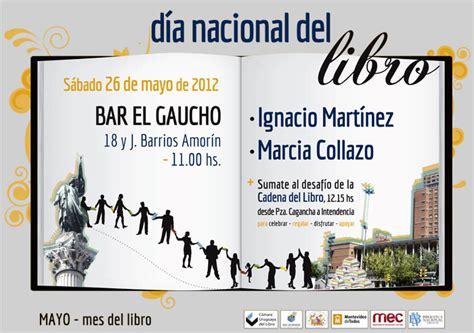 la uruguaya libros del actividades en bares y confiter 237 as d 237 a nacional del libro s 225 bado 26 de mayo c 225 mara uruguaya