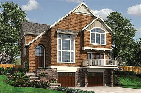 Front Sloping Lot House Plans by Craftsman Style House Plan 3 Beds 2 5 Baths 2044 Sq Ft