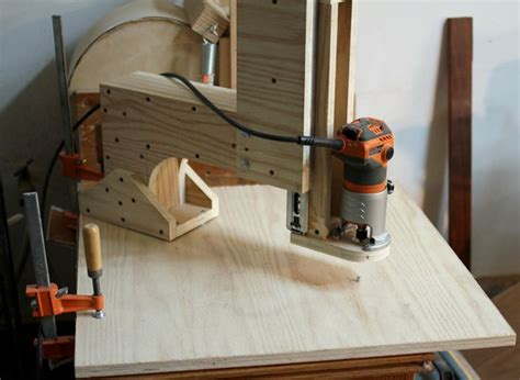 nice setup homemade overhead pin router router