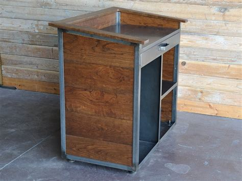 Kitchen Islands On Casters by Karl Hostess Stand Vintage Industrial Furniture