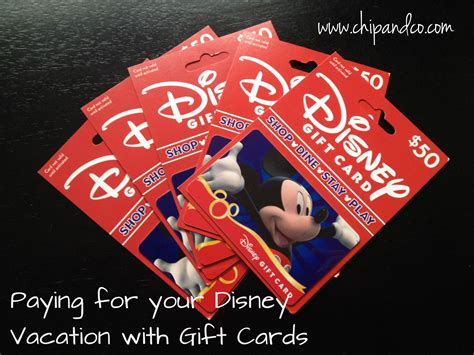 Walt Disney World Gift Card - paying for your disney reservation using disney gift cards