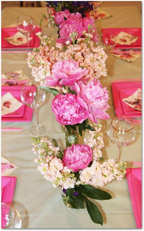 diy wedding shower centerpieces how to make peony centerpieces for a diy wedding shower budget wedding flower inspiration