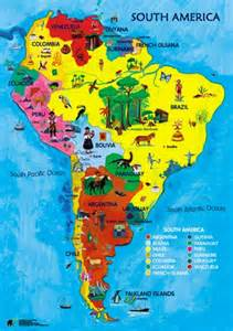 south america map for students baston c e primary school year 3