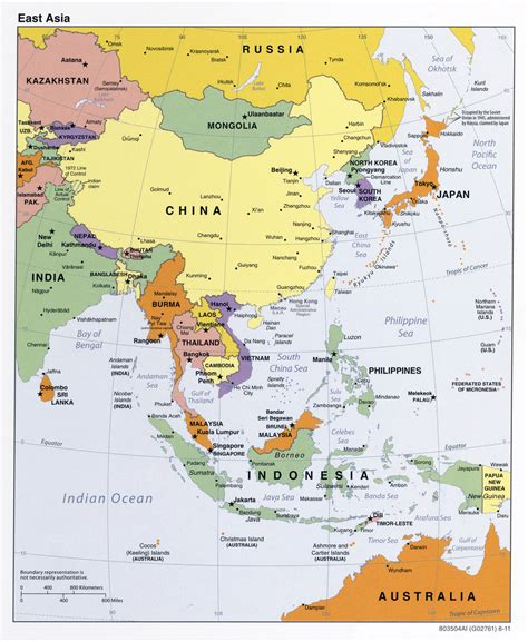 political map east asia maps of asia and asia countries political maps