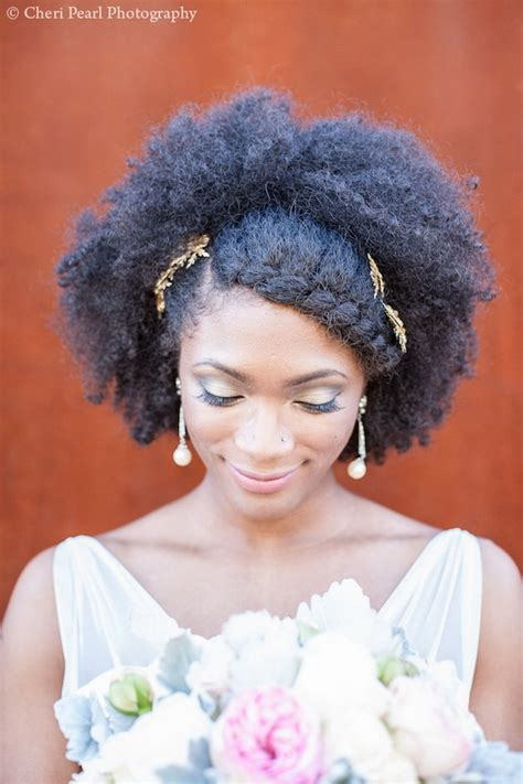 Bridal Hairstyles Natural Hair | 7 superb natural hair bridal hairstyles for summer weddings