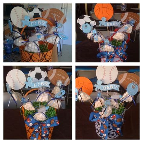 Sports Themed Baby Shower by Sports Theme Babyshower Centerpiece Ideas