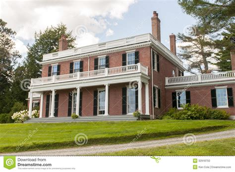 elegant brick mansion stock photo image 32918750