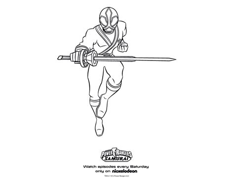 Power Ranger Samurai Coloring Page samurai ranger coloring pages coloring expose