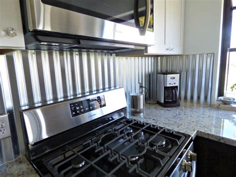 aluminum backsplash kitchen corrugated metal backsplash kitchen remodels corrugated metal metals and kitchens
