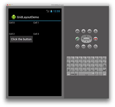 grid layout android studio gridlayout android