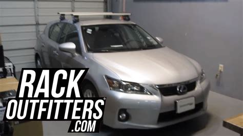 lexus ct200h roof rack lexus ct200h with thule 480r aeroblade base roof rack by