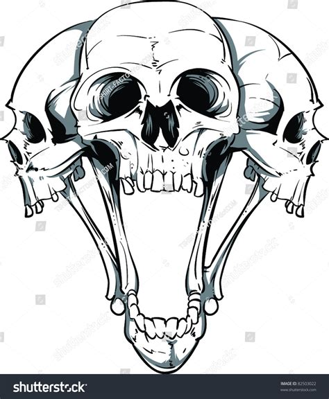 vector skull illustration stock vector 82503022 shutterstock