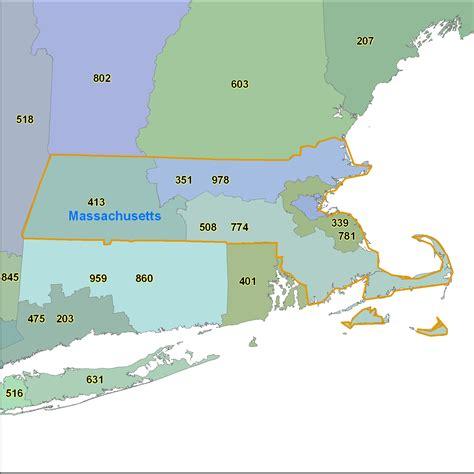 zip code map massachusetts massachusetts area code maps massachusetts telephone area
