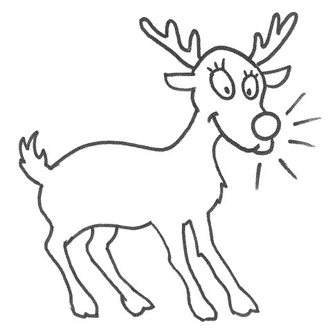 reindeer template to colour reindeer template printable coloring home