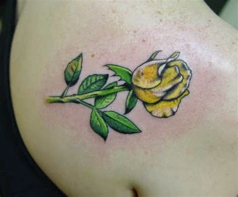 yellow rose tattoos designs ideas and meaning tattoos