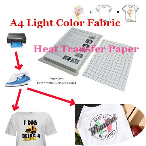printable iron on transfers for laser printers t shirt laser inkjet iron on heat print transfer paper for