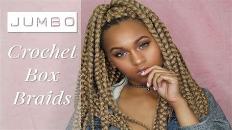 part 1 jumbo braids box braids youtube crochet jumbo box braids creatys for