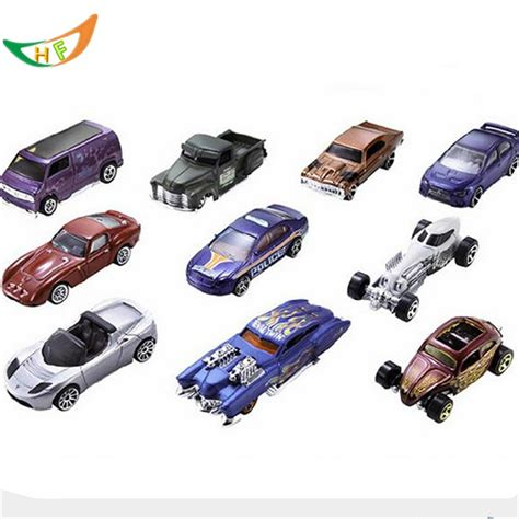 Pista Green Color by Hotwheels Toy Cars 10pcs Set Metal Mini Scale Model Cars