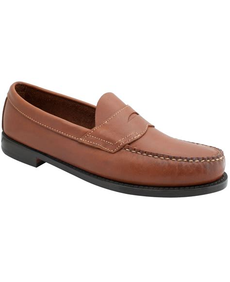 bass weejuns loafers lyst g h bass co logan weejuns flat