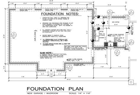 layout plan for foundation foundation plan home design