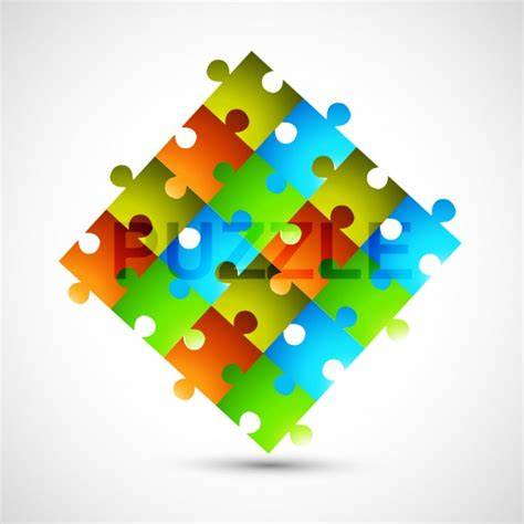 colorful puzzle pieces colorful puzzle pieces vector free