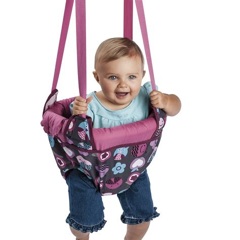 baby jumping swing evenflo exersaucer door jumper baby swing pink bumbly jump