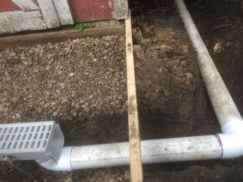 install drain pipe how to install a channel drain a french drain alternative