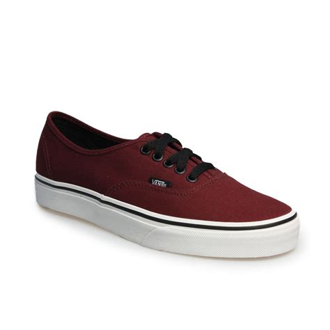 Vans Authentic Classic Maroon vans authentic port royale burgundy black canvas trainers