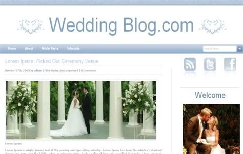 wordpress wedding blog blue theme free web templates
