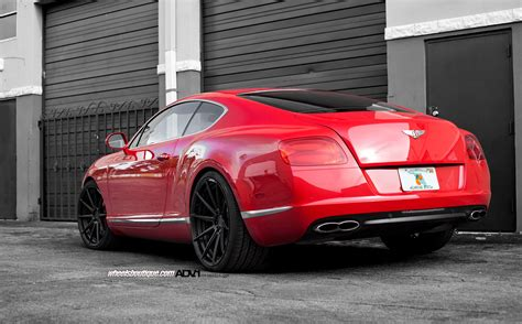 matte red bentley bentley continental gt adv10 m v2 sl concave wheels