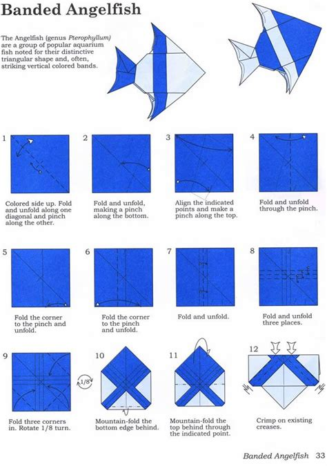 Angelfish Origami - welcome to dover publications kid activities