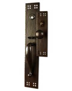 arts and crafts style crafted copper large entry sets